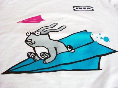 Sitodruk na koszulkach dla IKEA