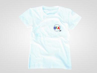 Druk cyfrowy DTG na koszulkach dla OLX.pl