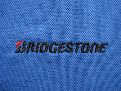Haft komputerowy na koszulkach polo dla Bridgestone