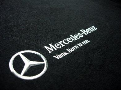 Druk cyfrowy DTG na koszulkach bawełnianych dla Mercedes-Benz