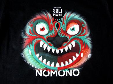 Druk cyfrowy DTG na koszulkach bawełnianych dla Browar Soli Piwko Nomono