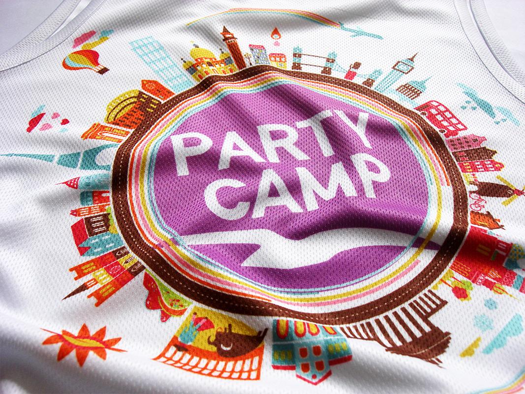 fe6377aa61ec3e Sublimacja na koszulkach sportowych poliestrowych dla Party Camp