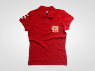 Flex Lateksowy na koszulkach polo dla HigH Szkoła Jazdy Poznań