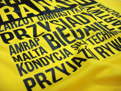 Folia Flex na koszulkach sportowych poliestrowych