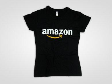 Druk cyfrowy DTG na koszulkach bawełnianych dla firmy Amazon