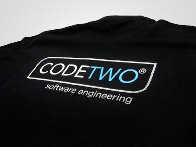 Druk cyfrowy DTG na koszulkach bawełnianych dla Code Two