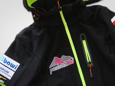 Flex Lateksowy na kurtkach typu Soft Shell dla PoznańSki