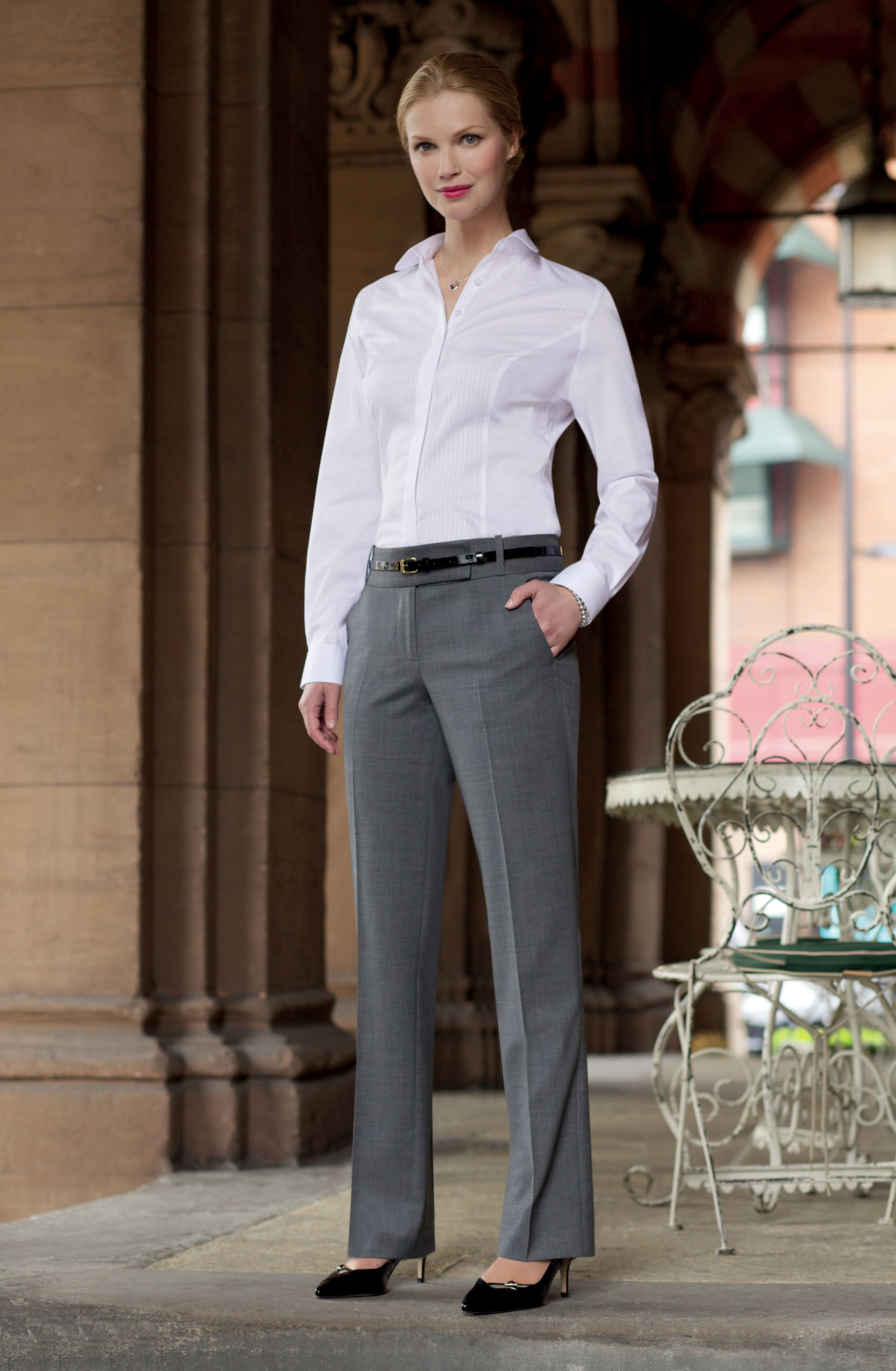 Eleganckie spodnie damskie na kant