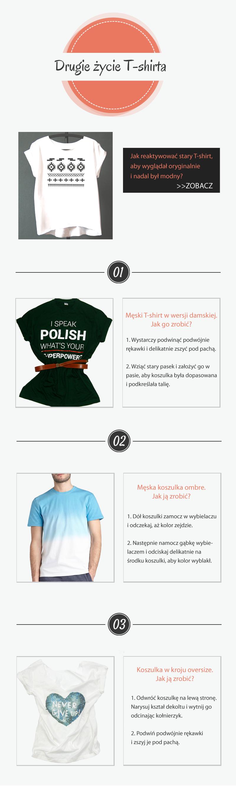 Wykorzystanie starych T-shirtów
