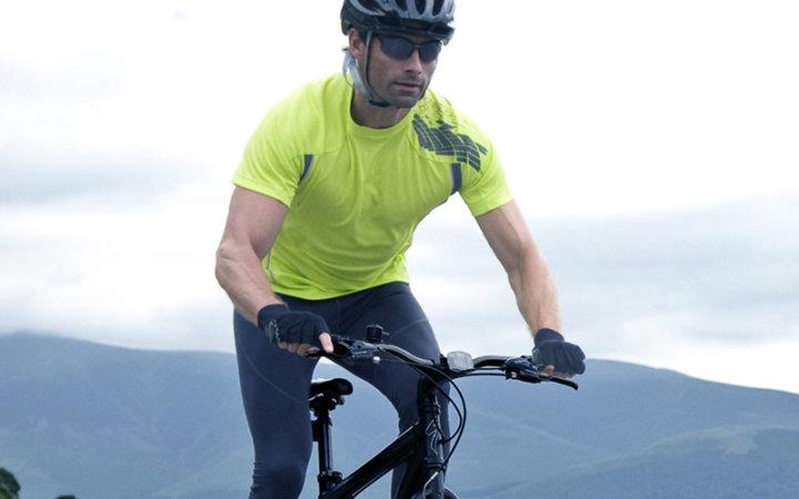 Koszulka rowerowa na krótki rękaw z nadrukiem męska.