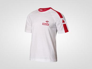Koszulka bawełniana szyta na zamówienie z haftowanym logotypem